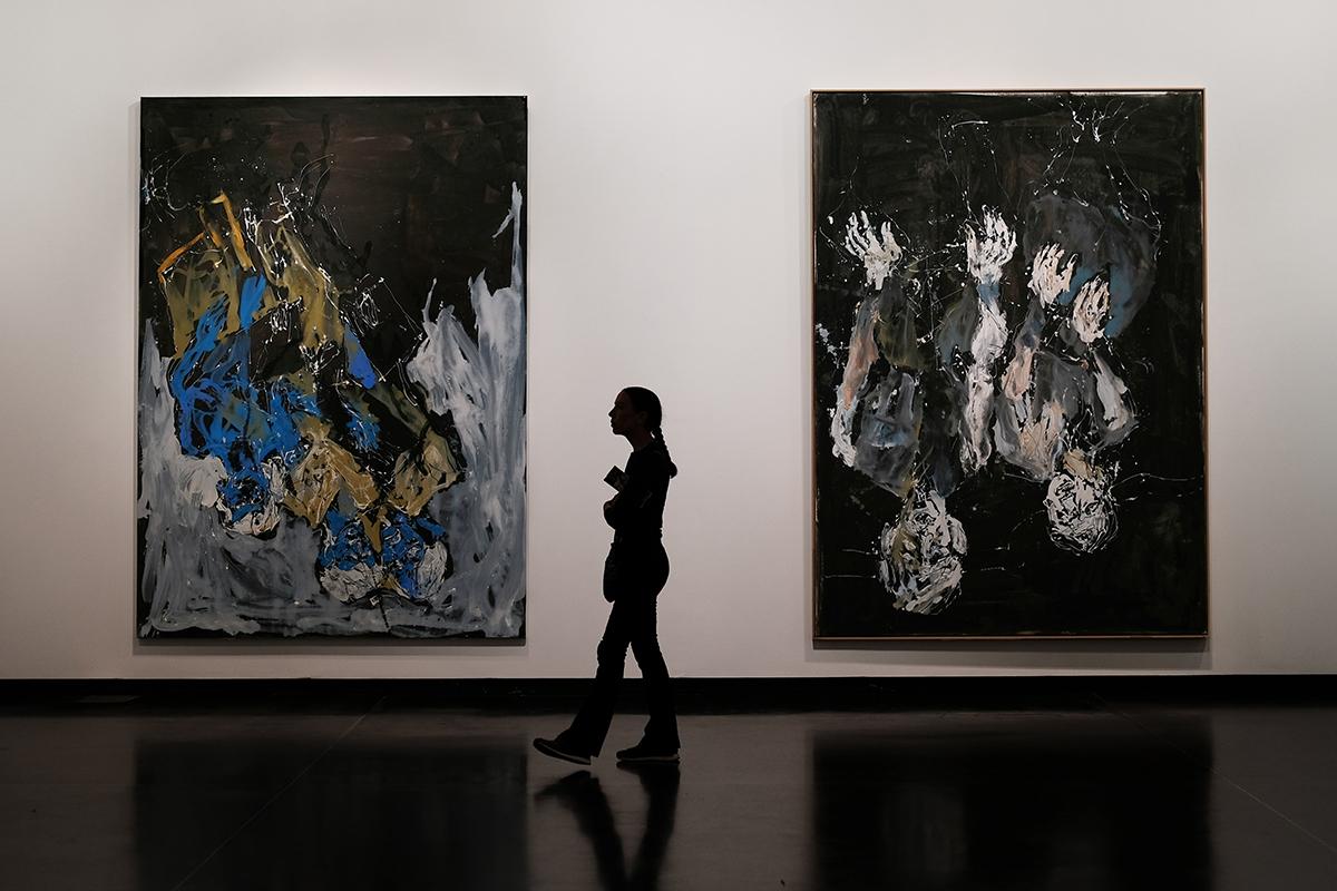 Cartellino Abstract Paintings Display