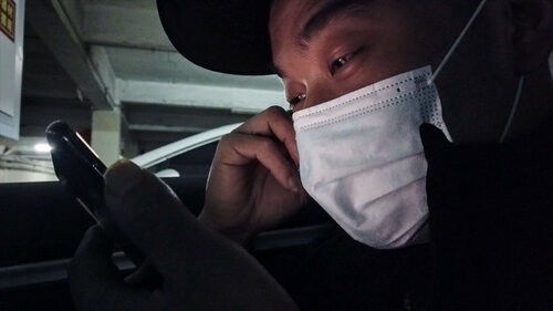 Meng liang living out in his car