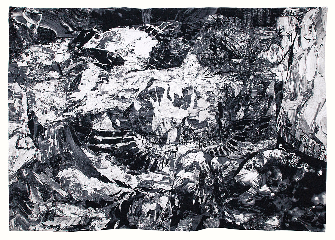 PATRICIA PEREZ EUSTAQUIO_Conversation Among Ruins_2018_digitally woven tapestry in cotton and wool_78_74h x 114_17w in