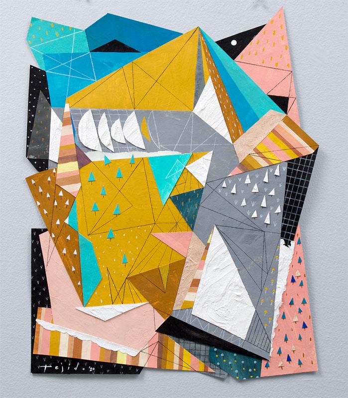 Jomike Tejido__Crystalline 3_ 30x24 inches acrylic on paper Cartellino
