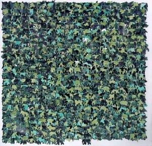 Lena Cobangbang, N Aroun ya (Blimey Rosseau), watercolor on paper (unframed), 25 x 25 inches, 2020